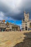 Castlegate i stadsmitten, Aberdeen, Skottland, Storbritannien, 13/08 2017 Fotografering för Bildbyråer