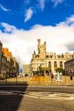Castlegate i stadsmitten, Aberdeen, Skottland, Storbritannien, 13/08 2017 Arkivbild