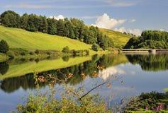 Castlehill水库,幽谷德文郡,苏格兰 库存照片