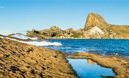 Castlepoint Rock Cross Royalty Free Stock Image