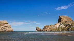 Castlepoint sea enterance Stock Photos