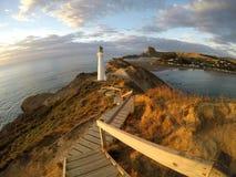 Castlepointvuurtoren | Nieuw Zeeland Royalty-vrije Stock Foto's