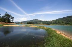 Castlereagh Reservoir - Sri Lanka. The Castlereigh Dam is a gravity dam built across the Kehelgamu Oya, a major tributary to the Kelani River, approximately 3 km Royalty Free Stock Image