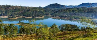 Castlereigh reservoir in sri lanka. Castlereigh reservoir and surrounded tea plantations in sri lanka Stock Images