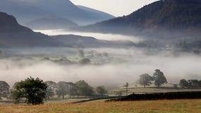 Castlerigg有薄雾的早晨 股票录像