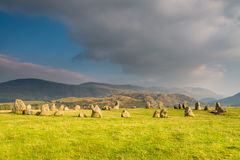 Castlerigg石圈子 库存照片