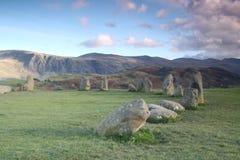 Castlerigg石圈子 库存图片