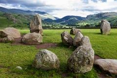 Castlerigg石头圈子,在凯西克附近, Cumbria,英国 库存图片