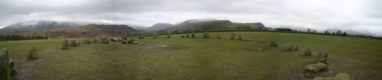 castlerigg πέτρα κύκλων στοκ φωτογραφία με δικαίωμα ελεύθερης χρήσης