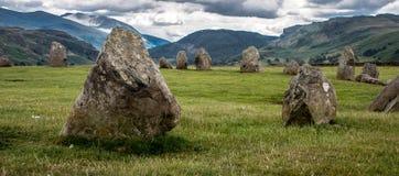 Castlerigg domarring, Cumbria Arkivbilder