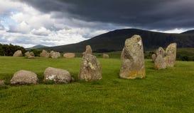 Castlerigg kamienia okrąg blisko Keswick, Cumbria, Anglia Fotografia Royalty Free