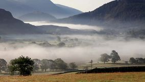 Castlerigg Misty Morning. A misty morning timlelapse video view from Castlerigg stone circle near Keswick, Cumbria in the English Lake District National Park stock video footage