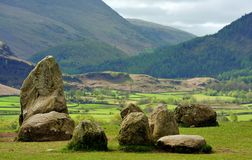 Castlerigg stone circle boulders, summer Stock Images