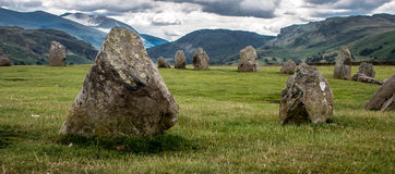 Castlerigg Stone Circle, Cumbria. Prehistoric stone circle in Cumbria. A mysterious  ancient monument in the English Lake District close to Keswick. Popular Stock Images