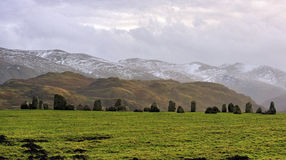 Castlerigg stone circle, Cumbria, winter royalty free stock photography