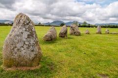 Castlerigg Stone Circle in the English Lake District stock photo