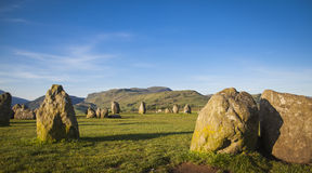 Castlerigg Stone Circle. In Lake District in morning light Royalty Free Stock Photo
