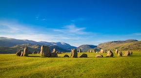 Castlerigg Stone Circle. In Lake District in morning light Royalty Free Stock Photos