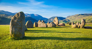 Castlerigg Stone Circle. In Lake District in morning light Stock Images