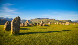 Castlerigg Stone Circle. In Lake District in morning light Stock Photos
