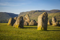 Castlerigg Stone Circle. In Lake District in morning light Royalty Free Stock Images