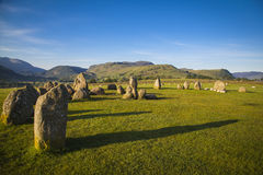 Castlerigg Stone Circle. In Lake District in morning light Stock Photography