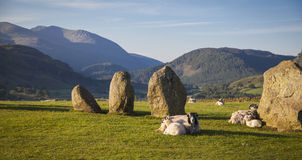 Castlerigg Stone Circle. In Lake District in morning light Stock Image