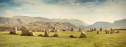 Castlerigg stone circle. Lake District, UK Royalty Free Stock Image