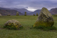 Castlerigg Stone Circle in the Lake District. A view of Castlerigg Stone Circle in the Lake District in Cumbria, UK Stock Photography
