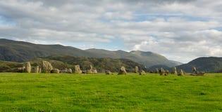 Castlerigg Stone Circle near Keswick Royalty Free Stock Photos
