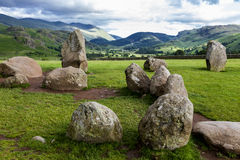 Free Castlerigg Stone Circle, Near Keswick, Cumbria, England. Stock Images - 57134254