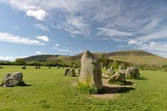 Castlerigg Stone Circle and Skiddaw, Royalty Free Stock Photo