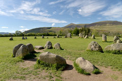 Castlerigg Stone Circle and Skiddaw, Royalty Free Stock Photography