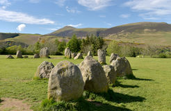 Castlerigg Stone Circle and Skiddaw, Royalty Free Stock Images