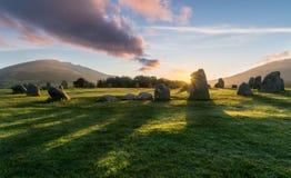 Castlerigg Stone Circle Sunrise, Lake District. royalty free stock image