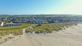 Castlerock & Atlantyk ocean Co Derry P??nocny - Ireland obraz royalty free