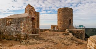 The ruins of Burriac Castle Royalty Free Stock Photo