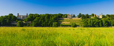 Castles on elbe river valley, dresden Royalty Free Stock Image