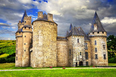 Castles of France. Impressive medieval castles of France (Dordogne stock photo