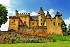 Castles of France- Puymartin Stock Photos