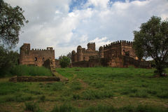 Castles of the Imperial Campus. Gondar Royalty Free Stock Photos