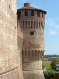 Castles of Italy - The medieval Castle of Soncino - Cremona - It. Castles of Italy - View of the medieval castle of Soncino in the province of Cremona - Italy 66 royalty free stock photo