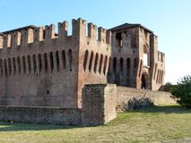 Castles of Italy - The medieval Castle of Soncino - Cremona - It. Castles of Italy - View of the medieval castle of Soncino in the province of Cremona - Italy Stock Photos