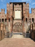 Castles of Italy - The medieval Castle of Soncino - Cremona - It. Castles of Italy - View of the medieval castle of Soncino in the province of Cremona - Italy 62 stock photo