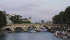 Landscape in Paris. Bridge over the Seine. Stock Image