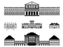 Castles, palaces and mansions vector illustration Stock Image