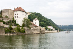 Castles of Passau Stock Photography