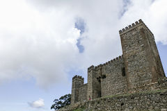 Castles in the province of Huelva Cortegana, Andalusia Royalty Free Stock Image