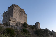 Castles in the province of Malaga, the castle of Turón, Andalucia Royalty Free Stock Image