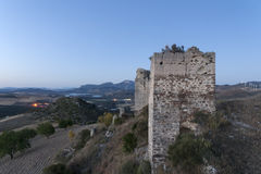 Castles in the province of Malaga, the castle of Turón, Andalucia Royalty Free Stock Photos